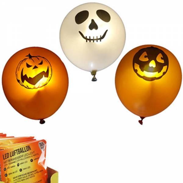 "LED-Luftballons ""Halloween"", 3er Set"