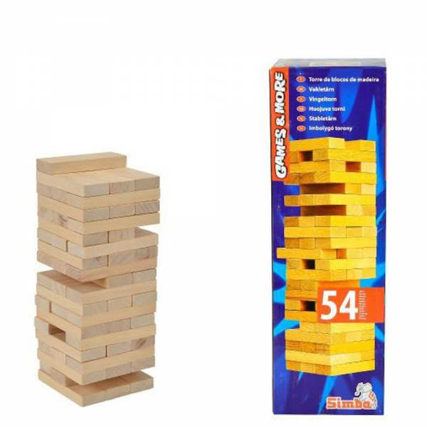 Holzwackelturm - 54-tlg