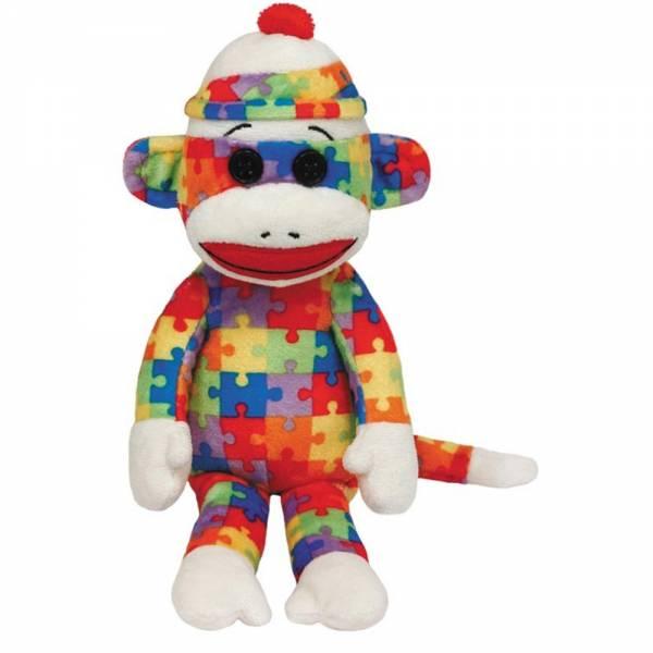 Ty Plüsch - Beanie Babies Socks - Sockenaffe Puzzle, 15cm