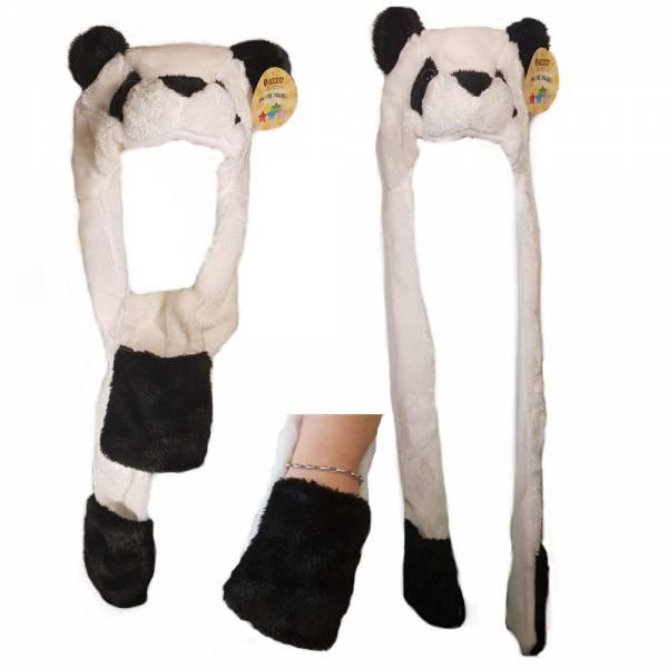Produkt Abbildung Pandamuetze_mit_Ohren_Nase_Schal_Mit_Taschen.jpg