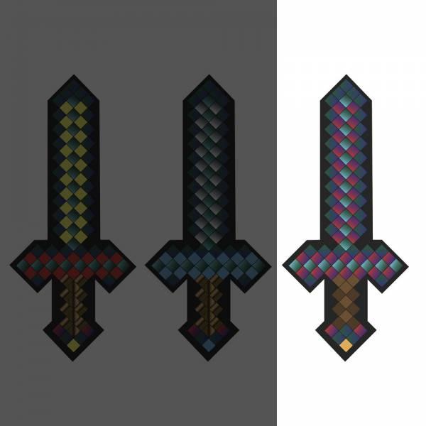 Plüsch Schwert ca. 25cm pixel, Rot für alle Minecraft- und Retro-Fans