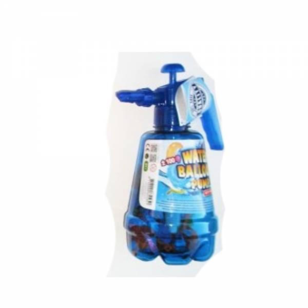 Wasserballon-Pumpe mit 100 Ballons, blau