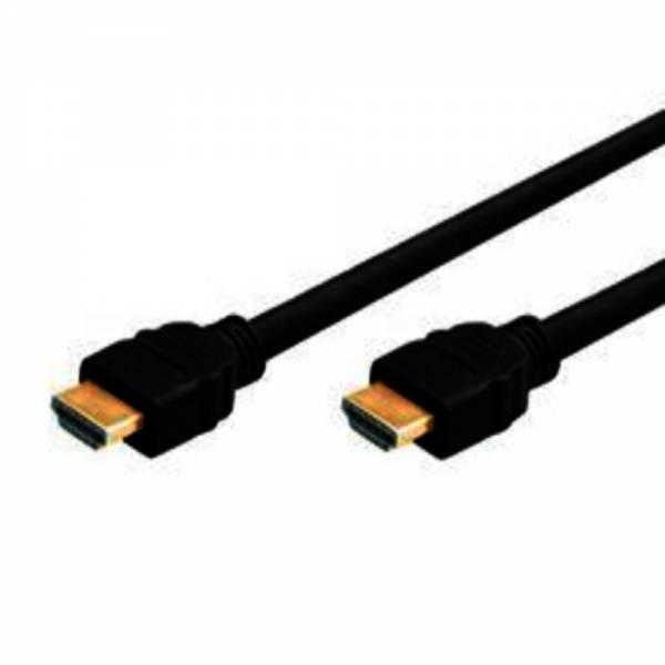 High Speed HDMI Kabel mit Ethernet, vergoldet, HDMI St. A / St. A, schwarz, 1,0 m