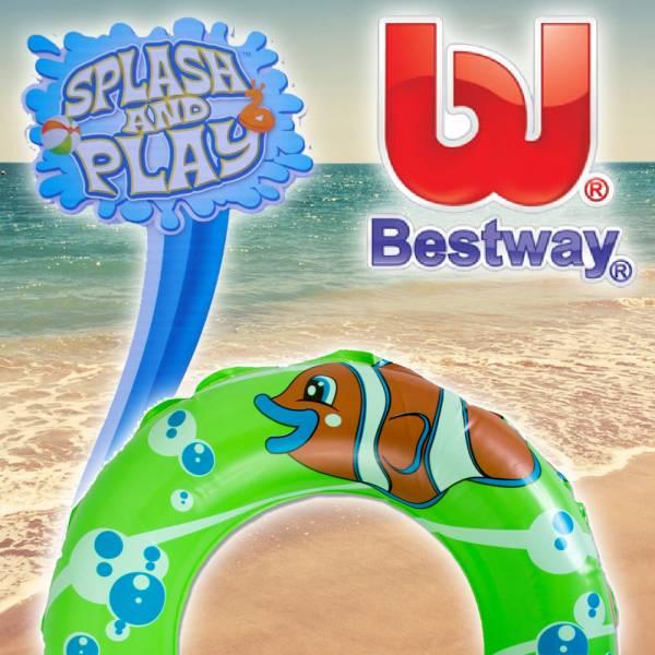 Bestway Schwimmreif, 41cm, Splash and Play, grün