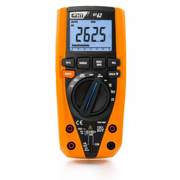 HT-Instruments HT62 Digitales Multimeter TRMS, 4 stellige Anzeige, 6000 Digits, Bargraph, CAT IV
