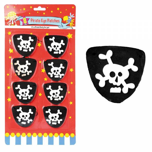 Piraten Augenklappen, 8-Stück, ca. 65x60mm