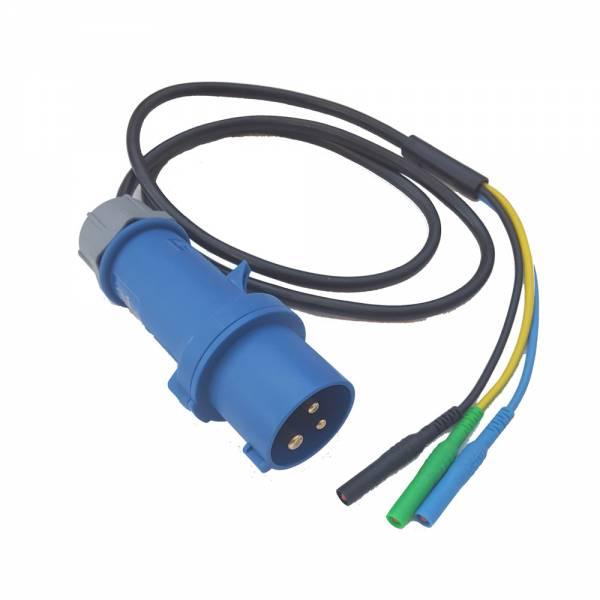 HT-Instruments BMA-32CEE-32A 3 Pol Messadapter (CEE 3 Pol Stecker mit 3 Anschlussleitungen)