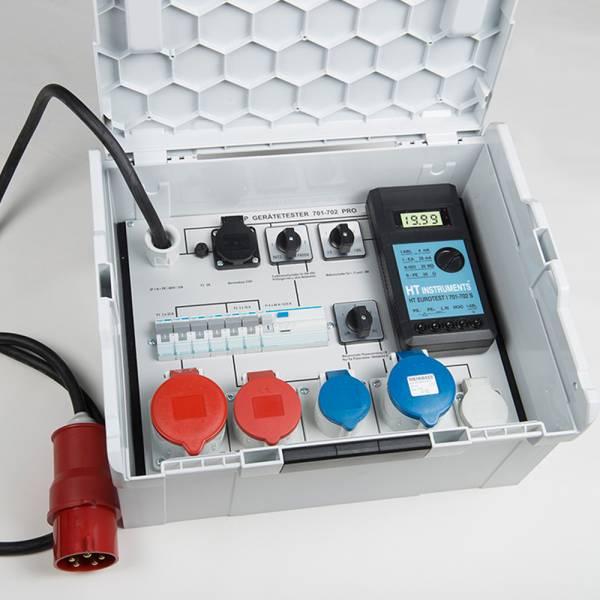 HT-Instruments HT-EuroTest 0701-02 3P VDE 0701-02 Gerätetester für 1 und 3-phasige Prüflinge