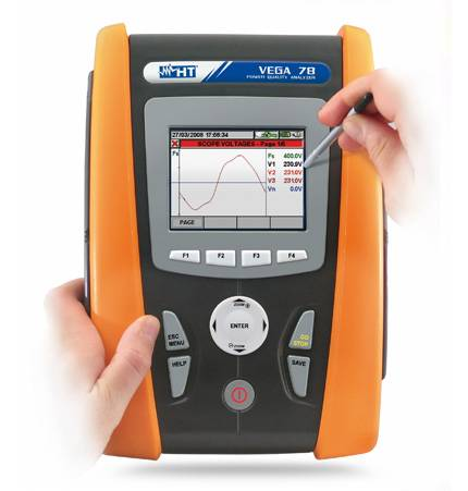 HT-Instruments VEGA 78 Dreiphasen Netzanalysator gemäß EN 50160 Standard