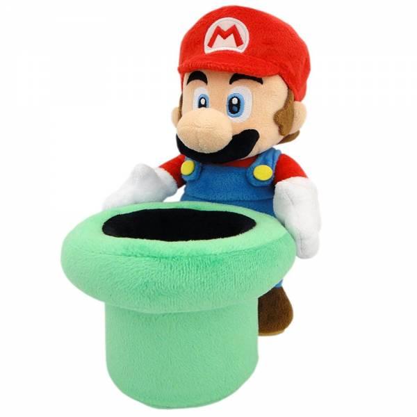 Nintendo Plüschfigur Mario mit Röhre (25cm)