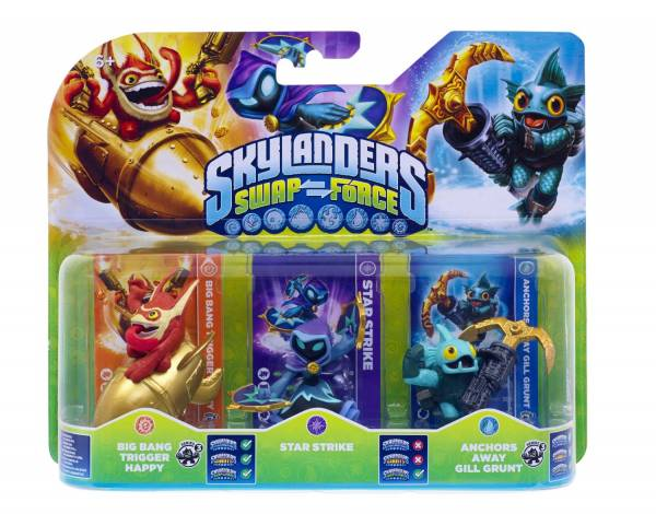 SKYLANDERS SWAP FORCE Triple Pack C (3 Figuren)