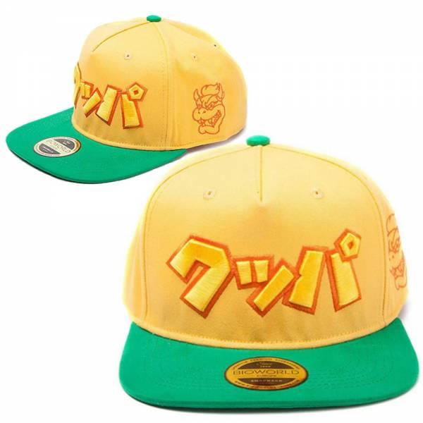 "Nintendo - Snapback Baseball Cap""Bowser"" japanisches Logo, gerade"