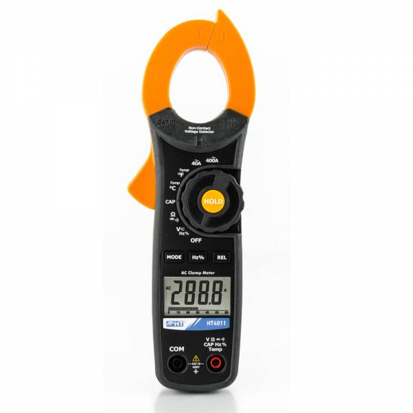 HT-Instruments HT4011 Robuste Stromzange bis 400A AC und 600V AC/DC mit spannungs-Sensor