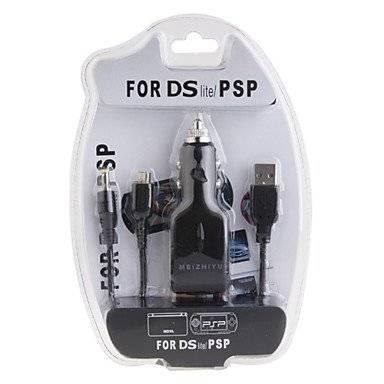 3-in-1 USB Car Charger für PSP 1000/2000 und NDS Lite