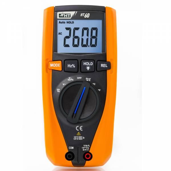 HT-Instruments HT60 Digitales Multimeter TRMS, 4 stellige Anzeige, 4000 Digits, CAT IV