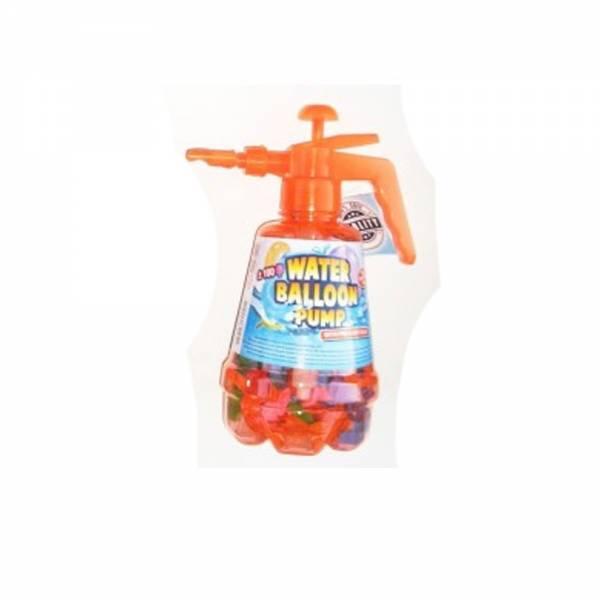 Wasserballon-Pumpe mit 100 Ballons, orange