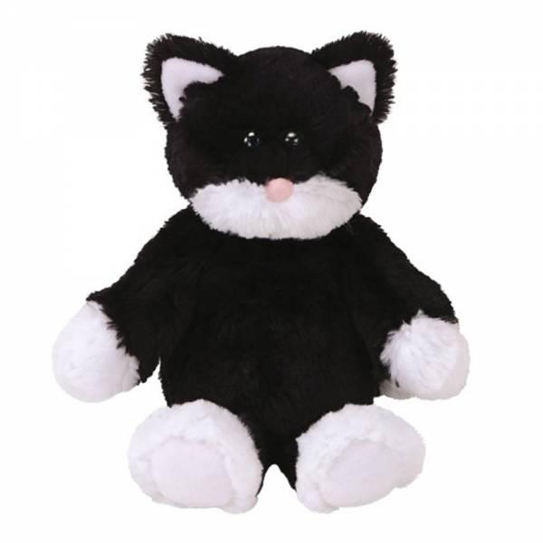"""Ty Cuddlys """"Bessie"""", Katze schwarz/weiß, ca 20cm"""