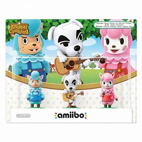 amiibo - Animal Crossing 3er Figuren-Set K.K. Rosina, Björn