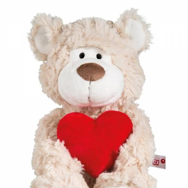 Nici Bär beige mit Herz, ca 30cm