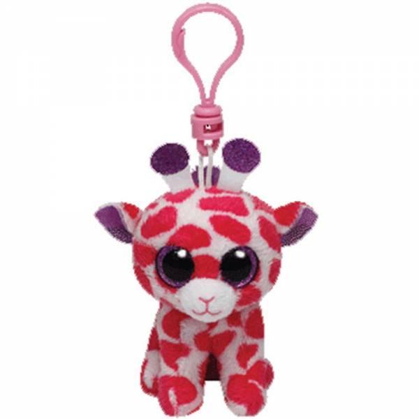 "Ty Beanie Boo's, ""Twigs"", Giraffe, pink/violett, ca. 8,5cm, Clip"