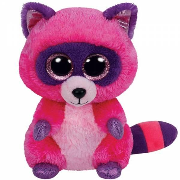 "Ty Beanie Boos ""Roxie"", Waschbär pink/lila, ca 24cm"