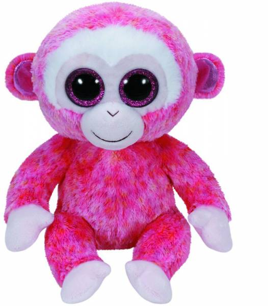"Ty Beanie Boo's, ""Ruby"" , Affe rot/weiss, ca 24cm"