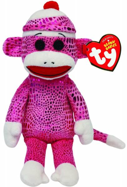 Ty Plüsch - Beanie Babies Socks - Sockenaffe leuchtend violett, 15cm