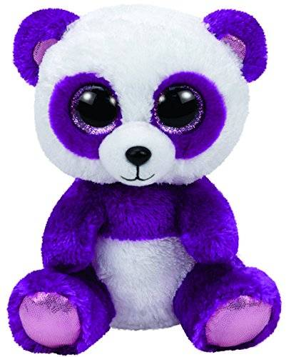 """Ty Beanie Boos, """"Boom Boom"""", Panda, violett/weiss, ca. 24cm"""