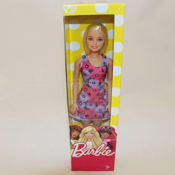 """Barbie - Modepuppe """"Chic"""", Blond, lila geblümtes Kleid"""