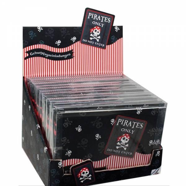 """Geburtstags-/Party-Einladungen """"Pirates Only"""" (8 Stück)"""