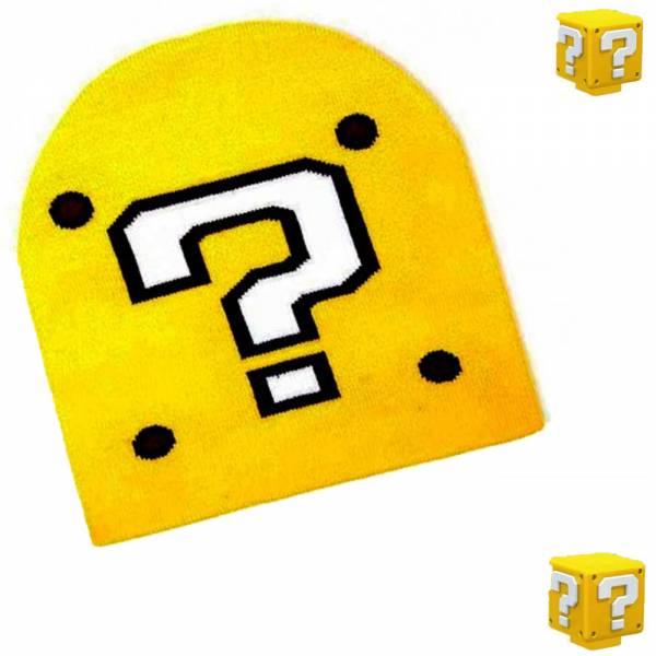 Nintendo Super Mario, GIF-Box mit Fragezeichen, Beanie