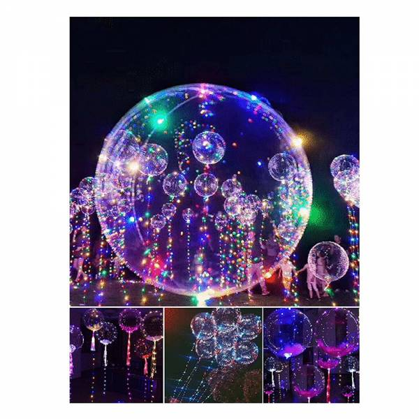 "LED-Luftballon ""Magic Ballon"" bunt 50 cm - inkl. 30er LED"