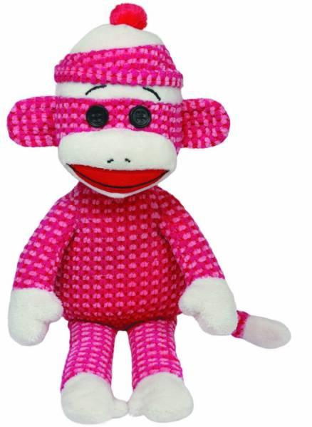 Ty Plüsch - Beanie Babies Socks - Sockenaffe pink gepunktet, 15cm