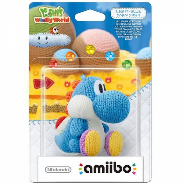 amiibo - Woll-Yoshi - Hellblau Wii U / 3DS / 2DS