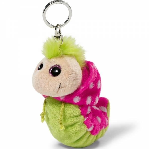 Nici Flibbie, Schlüsselanhänger mit Kapuze, grün/pink, ca 12 cm