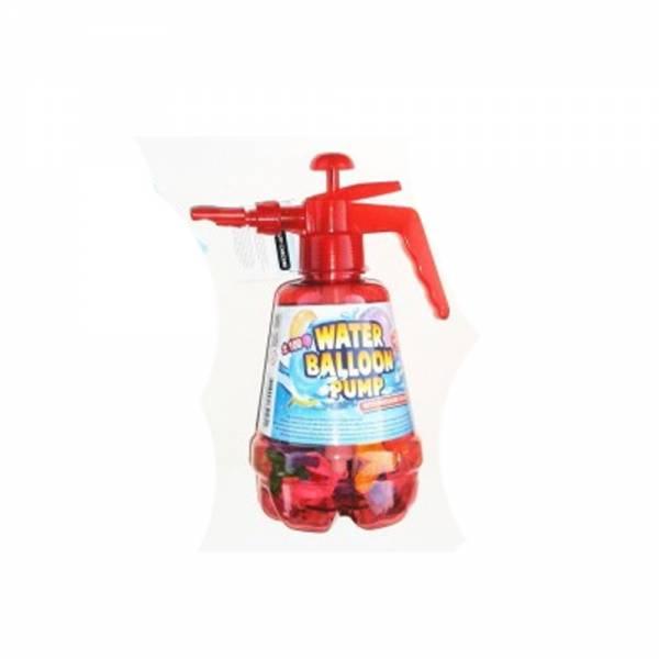 Wasserballon-Pumpe mit 100 Ballons, rot