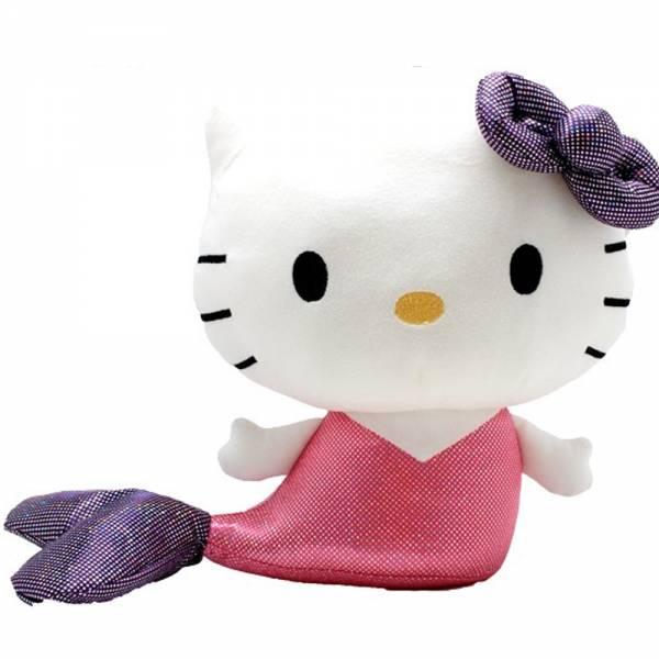Hello Kitty Meerjungfrau, ca 20cm, pink mit lila Schwanzflosse