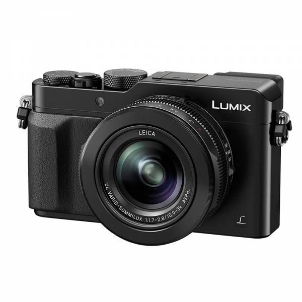Panasonic LUMIX DMC-LX100EGK Digitalkamera, 12,8 Megapixel, 24-75 mm Leica Objektiv, 4K, schwarz *Ku