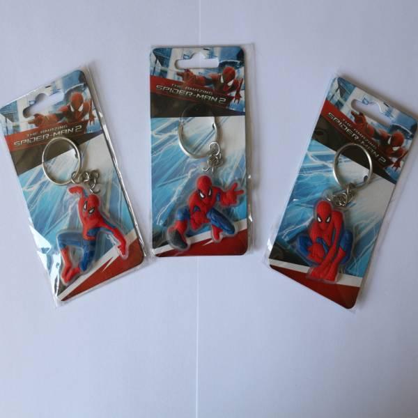 "Amazing Spiderman 2, Soft-Schlüsselanhänger (PVC) 3er SET, Motiv1-""Fight"", Motiv2-""Fly"", Motiv3-""Sta"