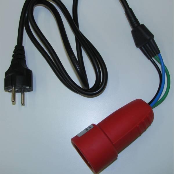 HT-Instruments SP-3ABL 1-Phasen Schuko-Adapter für Differenzstrom- oder Schutzleiterstrommessung mit