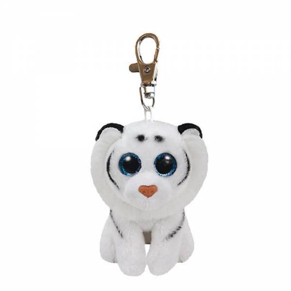 "Boo Clip/Anhänger - Tiger ""Tundra"" weiss - ca 8,5 cm"
