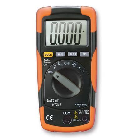 HT-Instruments HT210 Kompaktes Digitalmultimeter mit Temperaturmessfunktion