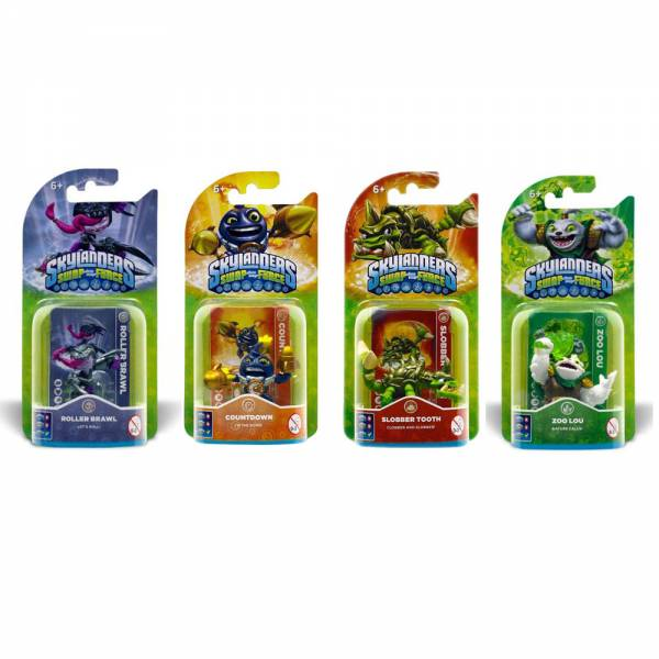 "Skylanders Swap Force ""Power-Pack-Set"", Roller Brawl, Countdown, Slobber Tooth, Zoo Lou (4 Figuren-"