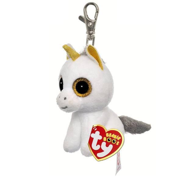 """Ty Beanie Boo's Clip, """"Pegasus"""", Einhorn, weiss/gold, ca 8,5cm"""
