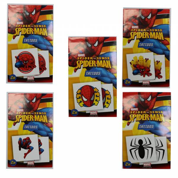 Spiderman Tattoos, 10er Set