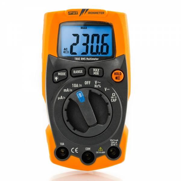 HT-Instruments IRONMETER Extrem robustes digitales Multimeter TRMS bis 600 V AC/DC mit integrierter