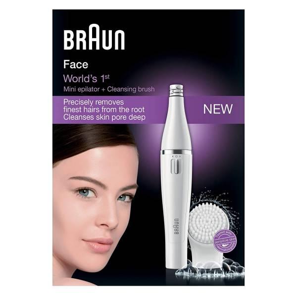 BRAUN 810 Gesichtsepilierer und Gesichtsreinigungsbürste - 10 Pinzetten - Weiß