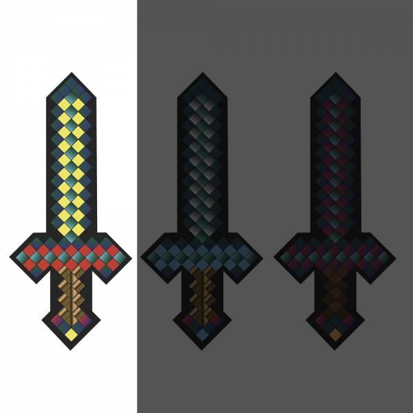 Plüsch Schwert ca. 25cm pixel, Gelb für alle Minecraft- und Retro-Fans
