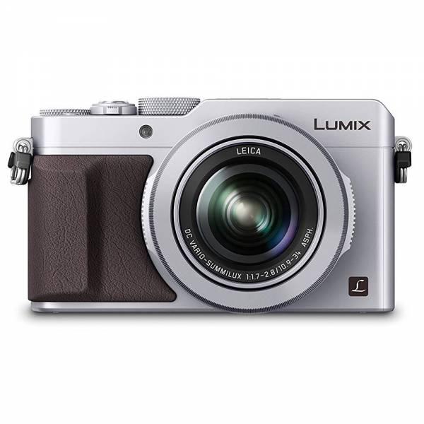 Panasonic LUMIX DMC-LX100EGS Digitalkamera, 12,8 Megapixel, 24-75 mm Leica Objektiv, 4K, silber
