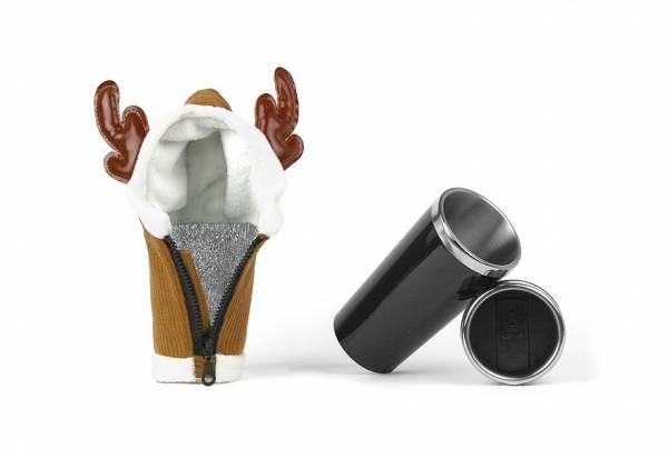 """SATZUMA Kaffeebecher """"Elch"""", The Buck Cup, inkl. Wärmemantel"""